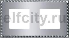 Рамка 2 поста, для горизонтального/ вертикального монтажа, cromo brillo