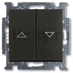 Выключатель управления жалюзи, 10 А / 250 В, шато-черный