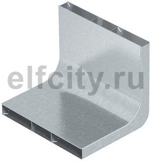 Вертикальный угол 90° кабельного канала EUK 250x28/3 секц. (сталь)