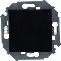Выключатель одноклавишный, перекресный (вкл/выкл 3-х мест), 10 A / 250 B, черный