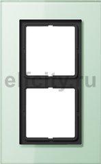 Рамка 2 поста, для горизонтального/ вертикального монтажа, матовое стекло