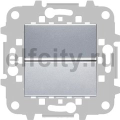 Выключатель одноклавишный, 10 А / 250 В, серебристый