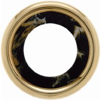 Рамка 1 пост, пластик под черный мрамор/золото 24 карата