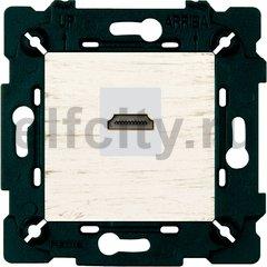 Розетка HDMI, white decape/бежевый