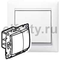 Диммер (светорегулятор) нажимной 40-600 Вт для ламп накаливания и галогенных 220В, пластик белый глянцевый