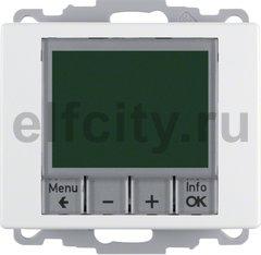 Термостат електронный программируемый, с выносным датчиком, для электрического подогрева пола 230 В~ 8А, полярная белизна