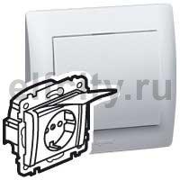 Розетка - Galea Life - IP 44 - немецкий стандарт - 2К+3 - винтовые клеммы - белая лицевая панель