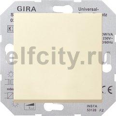 Диммер (светорегулятор) клавишный универсальный 50-420 Вт для ламп накаливания и низковольтных галогенных ламп, пластик кремовый глянцевый