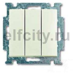 Выключатель трехклавишный 10 А / 250 В, шале-белый