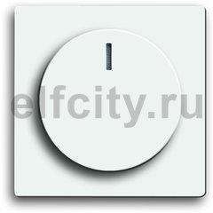 Плата центральная (накладка) с ручкой и лампой для поворотного светорегулятора, серия solo/future, цвет davos/альпийский белый