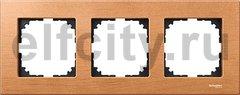 Рамка 3 поста, для горизонтального/ вертикального монтажа, бук