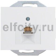Розетка телефонная одинарная RJ11, полярная белизна