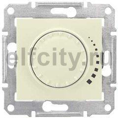 Диммер (светорегулятор) поворотный 25-325 Вт для ламп накаливания и галогенных 220В, бежевый