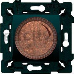 Диммер (светорегулятор) поворотный 40-500 Вт для ламп накаливания и галогенных 220В, состаренная медь/черный