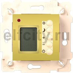 FD18004OB-A Многофункциональный термостат, кабель 4м. в комплекте, цвет bright gold/беж.