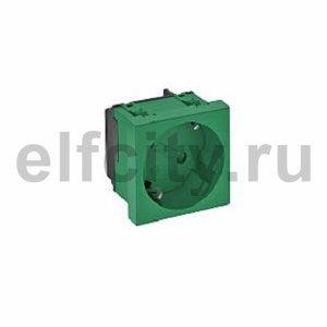 Розетка одинарная 33° с з/к, 250 В, 16A (зеленый)