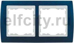 Рамка 2 поста, для горизонтального/вертикального монтажа, синий