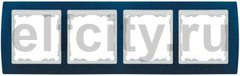Рамка 4 поста, для горизонтального/вертикального монтажа, синий