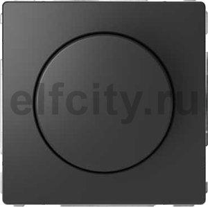 Диммер (светорегулятор) поворотно-нажимной 60-400 Вт для ламп накаливания и галогенных 220В, антрацит