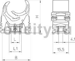 Трубный зажим 15-19mm