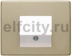 Центральная панель для розетки TAE, Arsys, металл, цвет: золотой