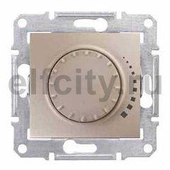 Диммер (светорегулятор) поворотный 25-325 Вт для ламп накаливания и галогенных 220В, титан