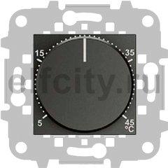 Термостат механический с выносным датчиком, для электрического подогрева пола 230 В~ 8А, антрацит