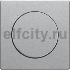 Центральная панель с регулирующей кнопкой для поворотного диммера, Q.1/Q.3, цвет: алюминиевый, с эффектом бархата