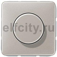 Диммер (светорегулятор) поворотный 20-525 Вт для ламп накаливания и галогенных 220В, платина