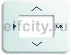 Плата центральная (накладка) для таймера 6455, 6456, серия alpha nea, цвет белый глянцевый