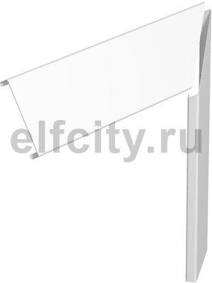 Крышка плоского угла кабельного канала GEK 80x300 мм (сталь,белый)