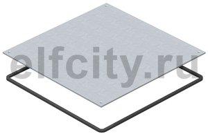 Заглушка монтажного основания UZD350 влагозащитная 383x383x4 мм (сталь)