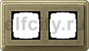 Рамка 2 поста, для горизонтального/вертикального монтажа, бронза