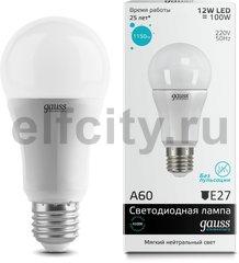 Лампа Gauss LED Elementary A60 12W E27 4100K 1/40