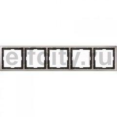 Рамка 5 постов, для горизонтального/ вертикального монтажа, нержавеющая сталь
