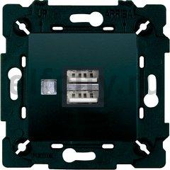 Зарядное устройство USB с двумя выходами, черный