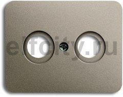 Накладка (центральная плата) для TV-R розетки, серия alpha exclusive, цвет палладий