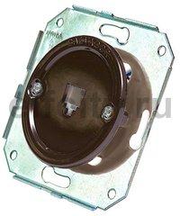 Телефонная розетка для внутреннего монтажа, коричневый