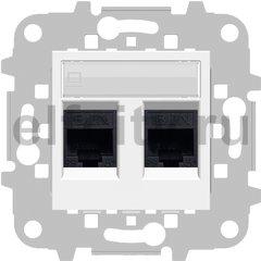 Розетка компьютерная двойная RJ45 UTP, 5-й кат, белый