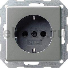 Розетка с заземляющими контактами 16 А / 250 В, с защитой от детей и пиктограммой, нержавеющая сталь