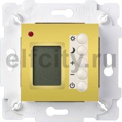 Термостат для электрического подогрева пола 230 В~ 16А , с датчиком температуры воздуха и пола, светлое золото/белый