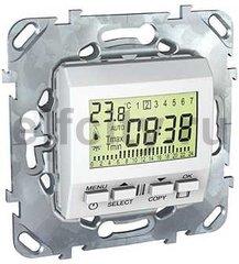 Термостат недельный программируемый, с выносным датчиком для электрического подогрева пола 230 В~ 8А, пластик белый