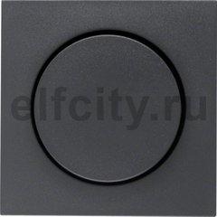 Центральная панель с регулирующей кнопкой для поворотного диммера цвет: антрацитовый, матовый Berker B.1/B.3/B.7 Glas