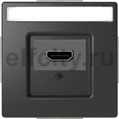 Розетка HDMI, антрацит