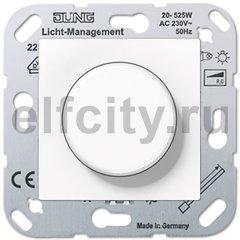 Диммер (светорегулятор) поворотный для диммируемых светодиодных ламп 220B, с защитой от перегрева, пластик белый глянцевый