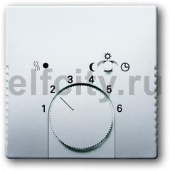 Плата центральная (накладка) для механизма терморегулятора (термостата) 1095 U, 1096 U, серия pur/сталь
