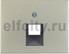 Центральная панель для розетки UAE цвет: нержавеющая сталь Berker K.5