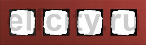 Рамка 4 поста, для горизонтального/вертикального монтажа, красный