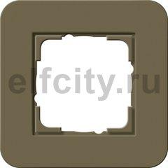 Рамка 1 пост, Soft-Touch дымчатый/антрацит