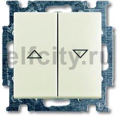 Выключатель управления жалюзи, 10 А / 250 В, шале-белый